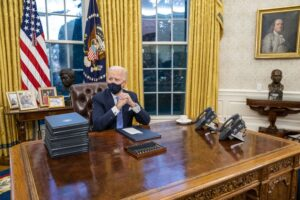 Biden New Oval Office Décor New Symbols And A Moon Rock