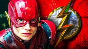 The 1st look at Ezra Miller's new DCEU costume revealed by The Flash set video!